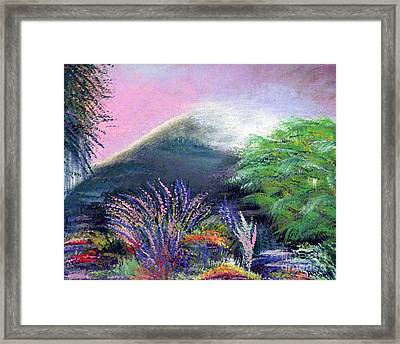Framed Print featuring the painting Croagh Patrick by Alys Caviness-Gober