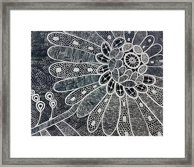 Crochet Flower Framed Print by Salwa  Najm
