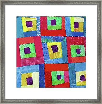 Crooked Color Boxes Framed Print by Marilyn West