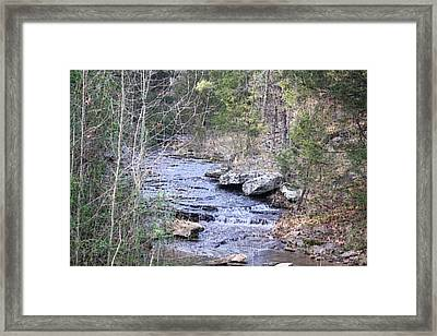 Framed Print featuring the photograph Crooked Creek by Donna G Smith