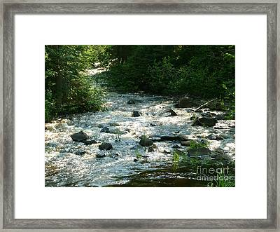 Crooked Creek Framed Print by Art Studio