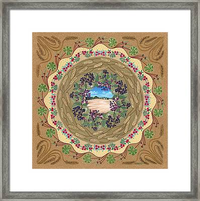 Crop Circle Framed Print by Isobel  Brook Haslam