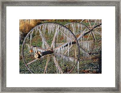Framed Print featuring the photograph Crops Of Ice #2 by Nola Lee Kelsey