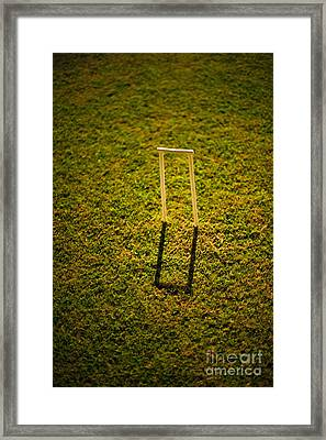 Croquet Wicket Casting A Shadow Framed Print by Thom Gourley/Flatbread Images, LLC