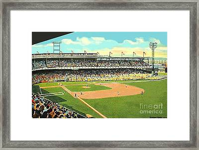 Crosley Field Baseball Stadium In Cincinnati Oh Framed Print by Dwight Goss
