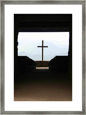 Framed Print featuring the photograph Cross 1 by Kelly Hazel