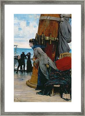 Cross Atlantic Voyage Framed Print by Henry Bacon