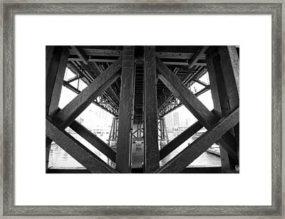 Cross-bars Framed Print by Douglas Barnard