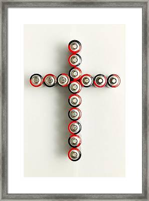 Cross Batteries 1 A Framed Print by John Brueske