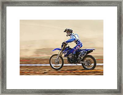 Cross Country Motorbike Racing Framed Print by Photostock-israel