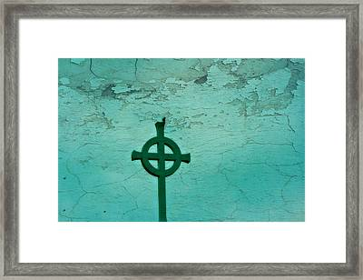 Cross Framed Print by Debbie Sikes