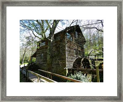 Framed Print featuring the photograph Cross Eyed Cricket Grist Mill by Paul Mashburn