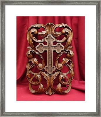 Cross Framed Print by Goran