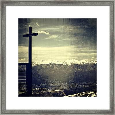 Cross In The Sky Framed Print by Joana Kruse