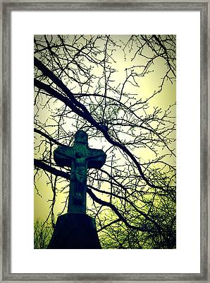 Cross In The Trees Framed Print