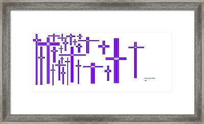 Cross Land 1 Framed Print by Jerry Conner