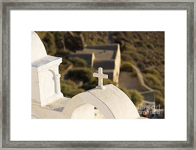 Framed Print featuring the photograph Cross by Leslie Leda