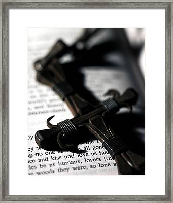 Cross On A Book Framed Print by Fabrizio Troiani