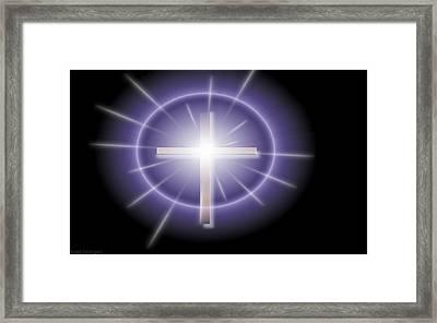 Cross Framed Print by Ricky Jarnagin