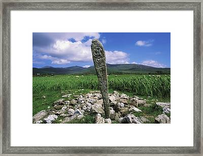 Cross Slab, Dingle Peninsula, Co Kerry Framed Print by The Irish Image Collection