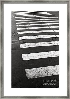 Cross Walk Framed Print