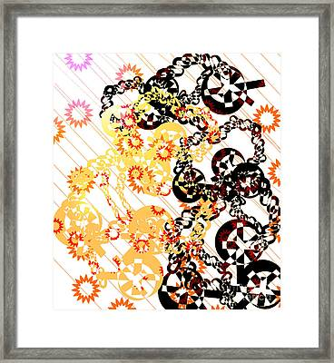 Crosses And Chains  Framed Print by Melissa  Hardiman