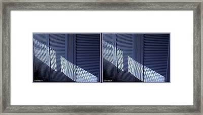 Crosshatch - Gently Cross Your Eyes And Focus On The Middle Image Framed Print
