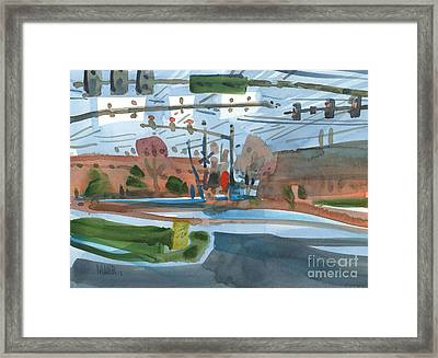 Crossing At Canton Two Framed Print by Donald Maier