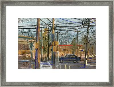 Crossing At Sandy Pleins Framed Print