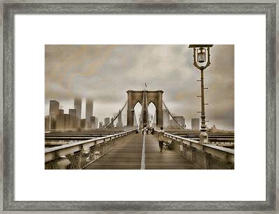 Crossing Over Framed Print by Joann Vitali