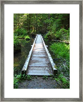 Framed Print featuring the photograph Crossing Over by Kathy Bassett