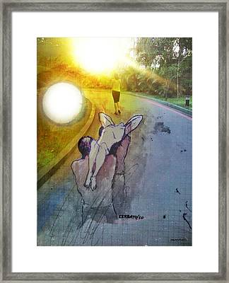 Crossing Framed Print by Paulo Zerbato