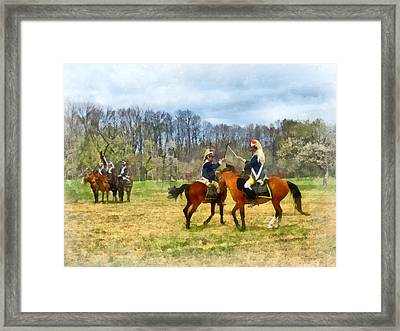 Crossing Sabers Framed Print by Susan Savad