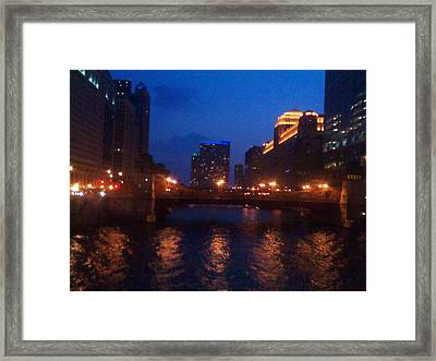 Crossing The Chicago Framed Print