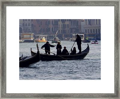 Crossing The Grand Canal Framed Print by Keith Stokes
