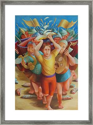 Crossing The Jordan Framed Print by Rosemarie Adcock