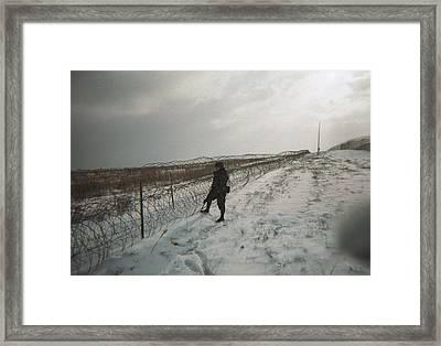 Crossing The Line Framed Print