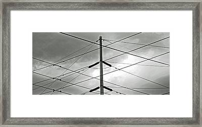 Crossing The Lines Framed Print