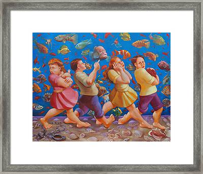 Crossing The Red Sea Framed Print by Rosemarie Adcock