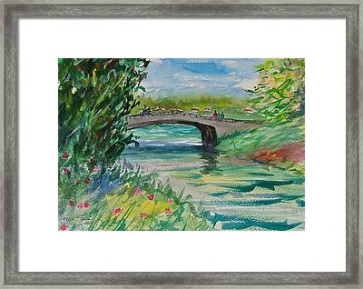 Crossing The River Framed Print