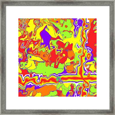 Framed Print featuring the painting Crossing The Road by Jann Paxton