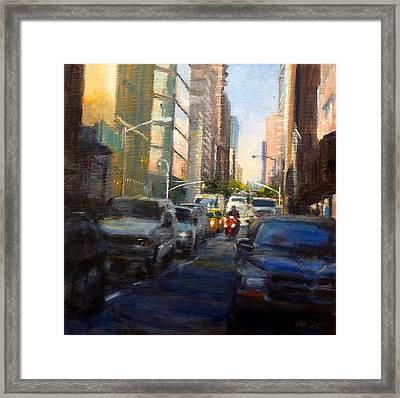 Crosstown On West 58th Framed Print by Peter Salwen