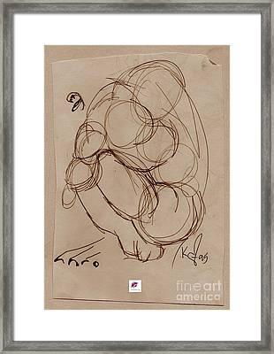 Crouching Tiger Framed Print by Carol Rashawnna Williams