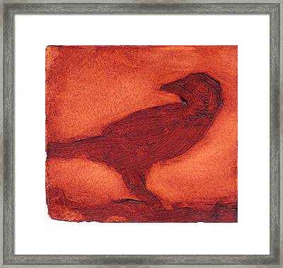 Framed Print featuring the painting Crow by Alla Parsons