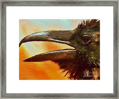 Crow Framed Print by Jerry L Barrett