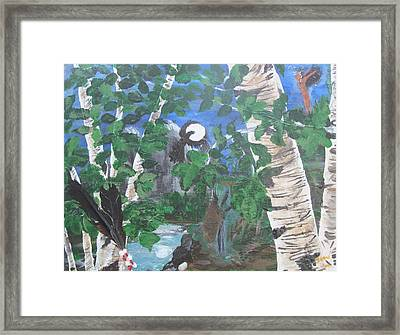 Crow Majik Framed Print