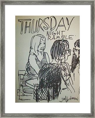 crowd at Thursday Night Ramble Framed Print by James Christiansen