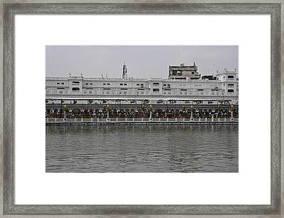 Framed Print featuring the photograph Crowd Of Devotees Inside The Golden Temple by Ashish Agarwal