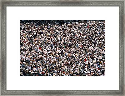 Crowds Numbering Over Framed Print by Stacy Gold