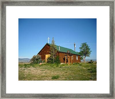 Crowheart Church Framed Print